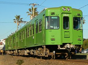 Choshi Electric Railway 2000 series - 2000 series set 2001 near Inuboh Station in January 2011