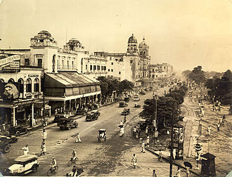 Chowringhee Road - The road in 1945