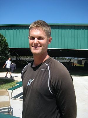 Chris Leroux - Chris Leroux at Florida Marlins training camp 2010