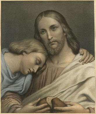 New Testament people named John - Ary Scheffer, Christ and St. John, 19th century