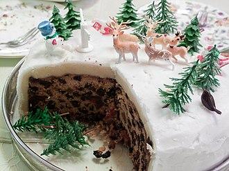 Christmas cake - A Christmas cake