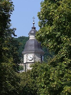 Nagymaros - The tower of the Roman Catholic church of Nagymaros