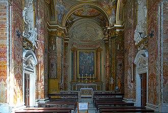 San Nicola dei Lorenesi - Interior of the church with frescoes by Corrado Giaquinto