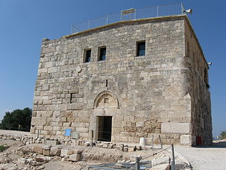 Sepphoris - Crusader/Ottoman fortress. The upper part was used as a school from the early 1900s until 1948. Note doorway constructed under Zahir al-Umar.