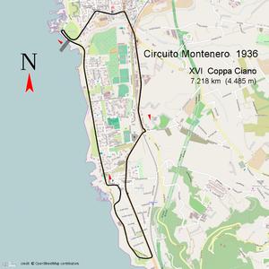 Circuito del Montenero - Circuito Montenero 1936