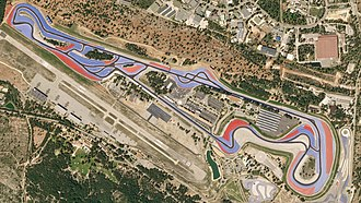 Circuit Paul Ricard - Satellite view of the circuit in April 2018