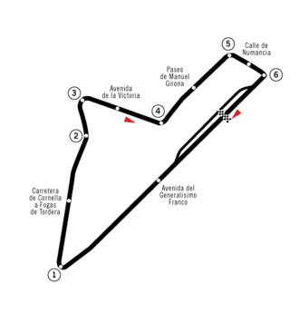 1954 Spanish Grand Prix - Circuit Pedralbes layout