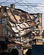 Beim Erdbeben in Mexiko zerstörtes Gebäude