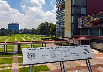 Ciudad Universitaria - World Heritage Site plaque