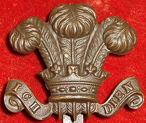 Prince of Wales's feathers - Cap badge of the Prince of Wales's Own Civil Service Rifles