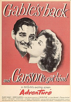 Clark Gable and Greer Garson in 'Adventure', 1945.jpg