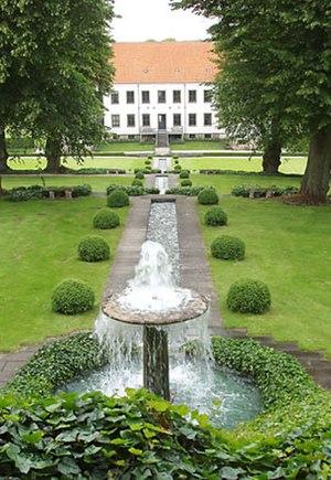 Clausholm Castle - The Baroque garden at Clausholm Castle