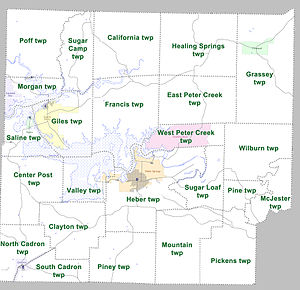 Cleburne County, Arkansas - Townships in Cleburne County, Arkansas as of 2010