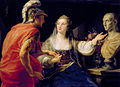 Cleopatra showing Octavius the bust of Julius Caesar, Pompeo Batoni.jpg