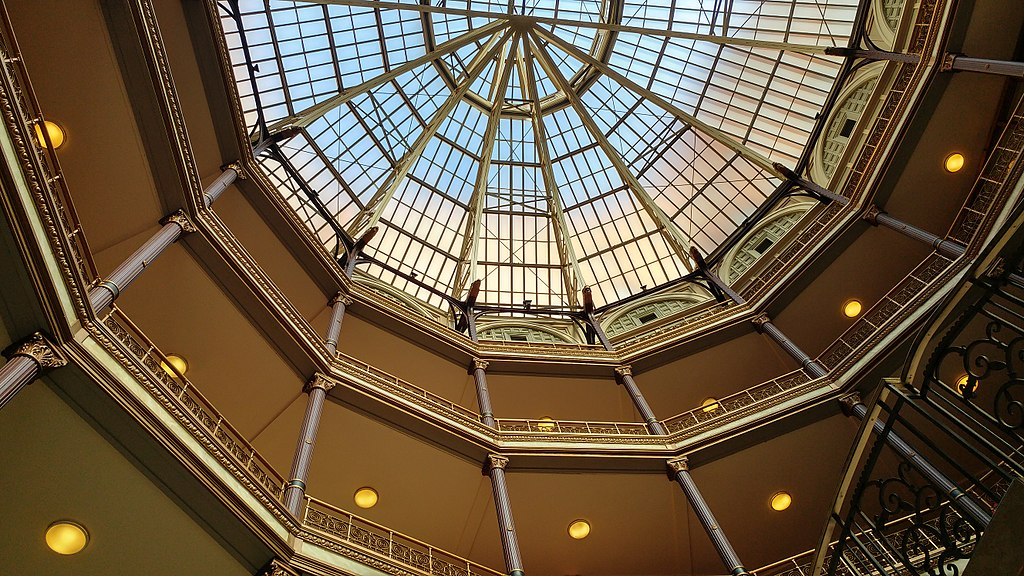 Cleveland Arcade skylight and upper floors