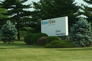 Clinton Nuclear Generating Station - AmerGen sign.