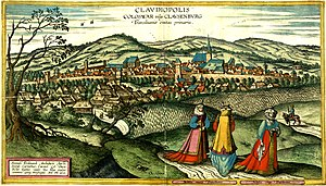 Cluj by Joris Hoefnagel, 1617 (v2)