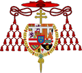 Coat of Arms of the infante Luis de Borbón, as Cardinal and Archbishop of Toledo.png