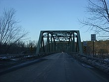 Cochecton–Damascus Bridge, the dividing line between PA 371 and Sullivan CR 114