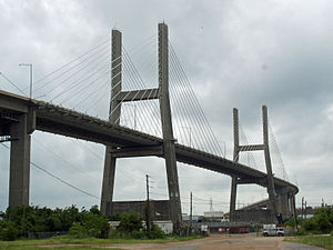 Blakeley Island (Alabama) - Cochrane-Africatown USA Bridge on the northern side of the island.