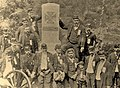 Col. Joseph Synex with 91st Pennsylvania Infantrymen, Little Round Top, Gettysburg, c. 1889.jpg