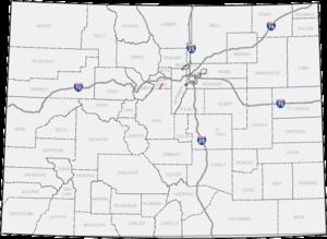Colorado State Highway 5 - Image: Colorado 5 map