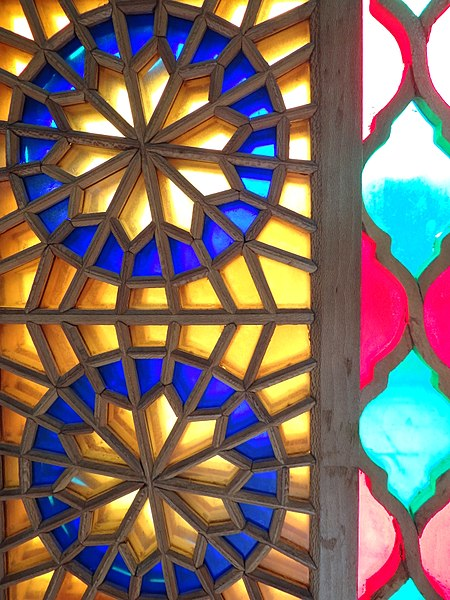 File:Colored Glass Window Design - Arg-e Karim Khan Citadel - Shiraz - Western Iran (7426411566) (2).jpg