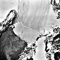 Columbia Glacier, Calving Terminus, Heather Island, March 24, 1986 (GLACIERS 1379).jpg