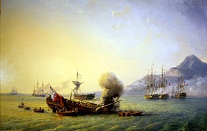 Mauritius campaign of 1809–11 - Combat de Grand Port, by Pierre Julien Gilbert, Musée national de la marine