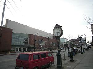 Xfinity Arena - Side view of Xfinity Arena