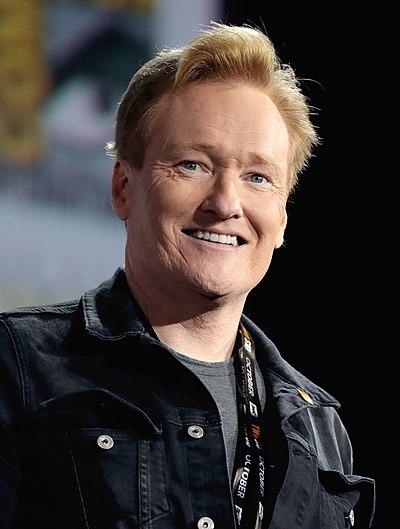 Conan O'Brien, American television show host and comedian