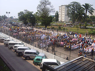 Democratic Republic of the Congo general election, 2006 - May 31, 2006 demonstration in Kinshasa against the delay of Elections.