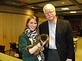 Congressman Miller with Bronx Zoo Education Instructor Kate Ma (5620057984).jpg