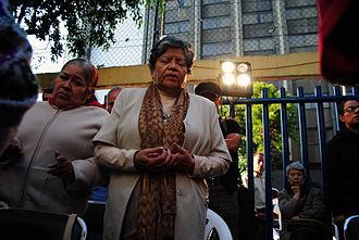 Christian prayer - Catholic prayer doing the Lord's Prayer in Mexico