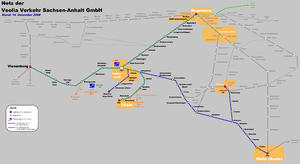 Transdev Sachsen-Anhalt - The network