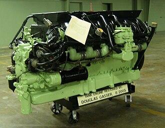 Continental Motors, Inc. - Restored Continental AV1790-5B tank engine at the American Armored Foundation Tank Museum in Danville, Virginia.