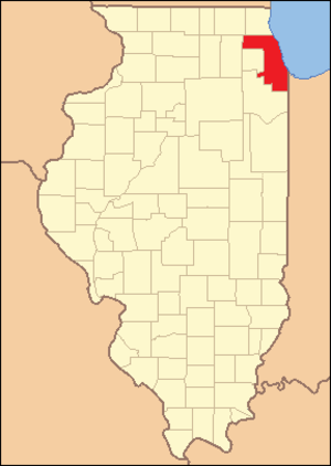 Cook County, Illinois - Image: Cook County Illinois 1839