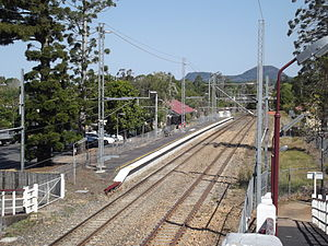Cooroy railway station - Southbound view in September 2012