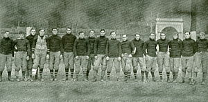 Cornell Big Red football - The 1904 team coached by Warner (not pictured).