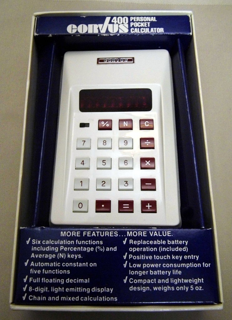 File Corvus Model 400 Led Personal Pocket Calculator 8