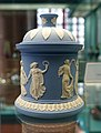 Covered box, Wedgwood, Etruria, blue jasperware with applications - Germanisches Nationalmuseum - Nuremberg, Germany - DSC03168.jpg