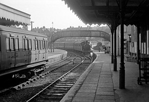 Isle of Wight Central Railway - Cowes railway station in 1963