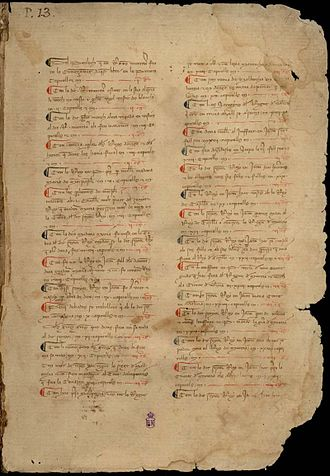 Catalan Company - Manuscript of the Crònica of Ramon Muntaner