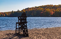 Cranberry Lake Beach Autumn Upstate New York (29660985684).jpg
