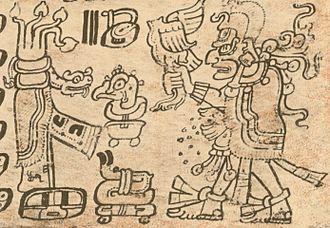 God L - New year ritual with acantun, Dresden Codex