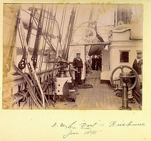 Crewmen aboard HMS Dart in Brisbane June 1895.jpg