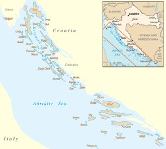 carte de la croatie avec les iles
