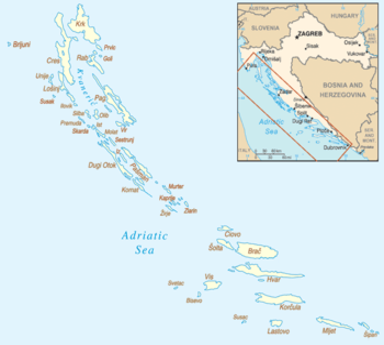 kroatien karte inseln Liste kroatischer Inseln – Wikipedia kroatien karte inseln