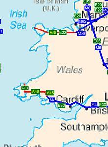 Trunk roads in Wales