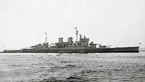 HMS Renown (1916) - HMS Renown in August, 1945